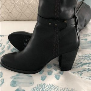 Ugg black leather dress boot